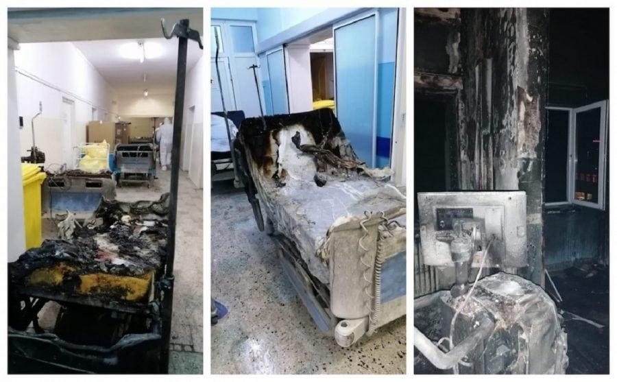 Incendiu devastator la Spitalul Județean Piatra Neamț soldat cu 10 decedați