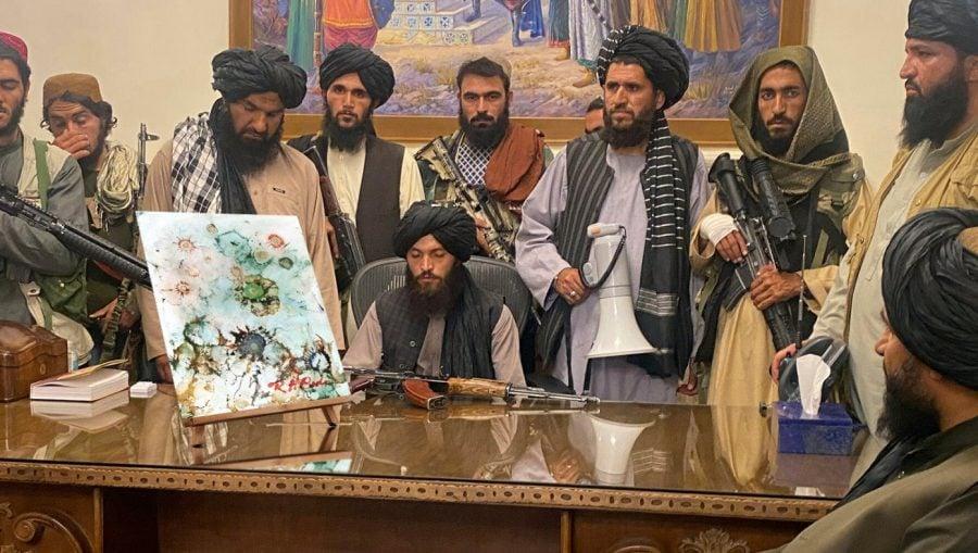 SATIRĂ: Talibanii achiziționează un tablou pictat de Hunter Biden pentru Palatul Prezidențial din Kabul