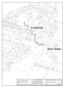 Plànol del cunículus realitzat per CODEX