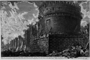 Gimbattista Piranesi. Vista del mausoleu de Cecilia Metella.