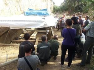 Jornada de formació dels Agents Rurals al jaciment de la Boella. Fotografia: Montse Buerba