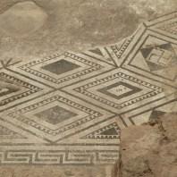 9. Detall del mosàic al paviment del frigidarium de les termes Romanes de Sant Boi de Llobregat