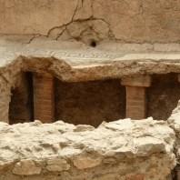12. Detall de l'hipocaust del caldarium de les termes Romanes de Sant Boi de Llobregat