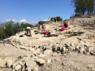 Vista dels treballs al camp de sitges localitzat a la 40 Campanya d'Excavacions a l'Esquerda
