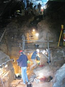 Excavacions a Pinnacle Point 5-6 al 2010.