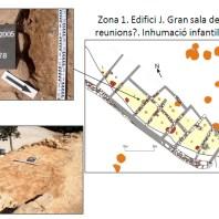 Detall de la zona d'hàbitat de control del camp de sitges del jaciment de Sant Esteve (Olius, Solsonès)