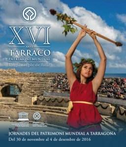 Portada del programa dels actes de celebració del XVIè aniversari de la inscripció de Tarragona a la llista de Patrimoni Mundial de la UNESCO