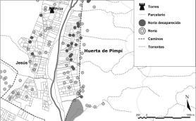 Mapa: Anàlisi del parcel·lari de l'horta de Pimpí (Tortosa)