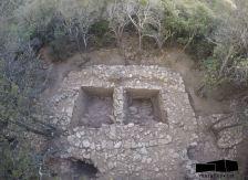 Vista de la torre 2, un cop excavada.