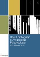 Portada del recull bibliografic d'Arqueologia i Paleontologia