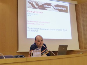 Sessió de la Tribuna d'Arqueologia del 8.3.206. Fotografia: Joaquim Folch