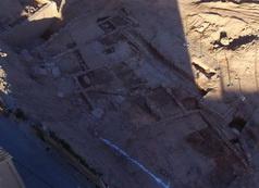 Vista aèria feta amb dron de l'assentament d'època romana republicana