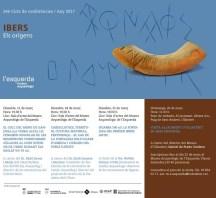 """Programa del 24è Cicle de Conferències Museu Arqueològic de l'Esquerda/2017: """"Ibers. Els orígens"""""""