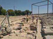 Sector fora muralla del jaciment de la ciutat romana d'Iesso.