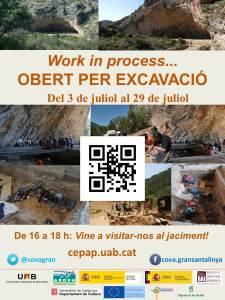 """""""Work in progress. Obert per excavació"""". Visites obertes al públic a la Cova Gran de Santa Linya"""