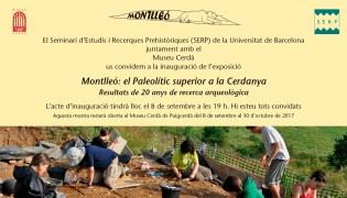 """Invitació de l'exposició: """"Montlleó: el Paleolític superior a la Cerdanya. Resultats de 20 anys de recerca arqueològica"""", al Museu Cerdà de Puigcerdà"""