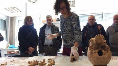 Moment de la presentació dels resultats dels estudis antropològics de les necròpolis de Can Graells i Can Cabassa (Sant Cugat del Vallès)