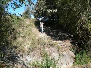 1. Bloc dels gravats del Mas de n'Olives abans de començar els treballs de recuperació. Fotografia: Josep Castells