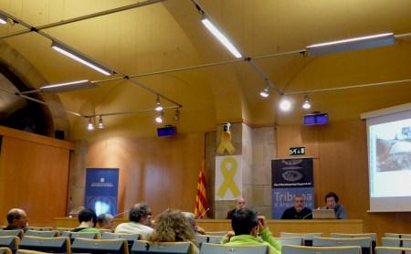 Sessió de la Tribuna d'Arqueologia del 4 d'abril de 2018. Fotografia: Tània Álvarez
