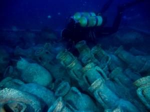 14. Intervenció al derelicte d'Illes Formigues. Fotografia: CASC