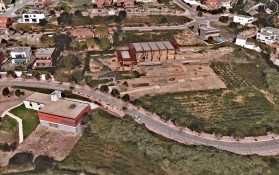 Vista zenital del parc arqueològic cella vinaria. Google earth
