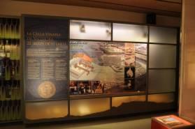 Vista de detall del centre d'interpretació de la romanització a Catalunya. Foto: Leticia Sierra