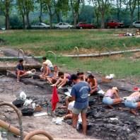8. Procés d'excavació del sector A durant la campanya de 1992 realitzatal jaciment neolític de la Draga. Fotografia: Antoni Palomo, equip Draga
