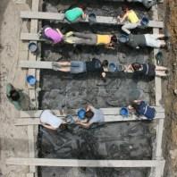 3. Vista zenital del procés d'excavació al jaciment neolític de la Draga. Fotografia: Antoni Palomo, equip Draga