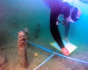 5. Arqueologia subaquàtica al jaciment neolític de la Draga. Fotografia: Antoni Palomo, equip Draga