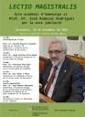 Lectio magistralis del Prof. Dr. José Remesal a la UB