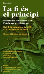 """xposició """"La fi és el principi. Les pràctiques funeràries a la Catalunya prehistòrica"""", al Museu d'Història de Sabadell"""