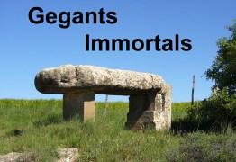 """Imatge del targetó de la xerrada adreçada al públic en """"Gegants Immortals: esteles-menhirs prehistòriques, quan, com i perquè"""""""