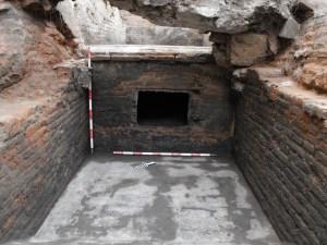 4. Detall de l'accés d'un dels fogars de les calderes