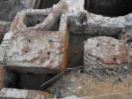 8. Detall dels basaments de l'assentament de la màquina de vapor.