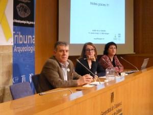 11. Conferenciants i moderador de la sessió de la Tribuna d'Arqueologia sobre el castell Formós de Balaguer del 13/3/2019. Fotografia: Josep Gallart