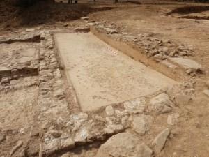 Detall d'un dipòsit de trepig de raïm de la vil·la romana de Can Ring. Fotografia: GRAPE