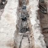 7. Soldats rebels recuperats en una de les fosses del Soleràs. Fotografia: Iltirta Arqueologia