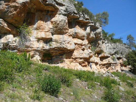 Localització de les pintures rupestres de la Vall II a Capçanes (Priorat).