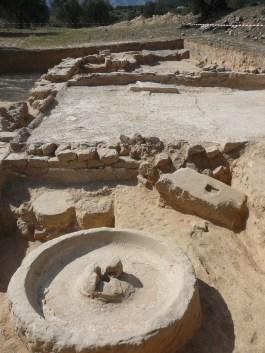 Detall de la premsa, de la pars rústica de la vil.la romana del Mas de Maurisio, al terme municipal de Riba-roja d'Ebre (Ribera d'Ebre).