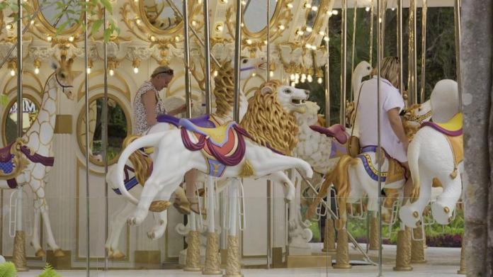Attractive carousel in Tierra Luna