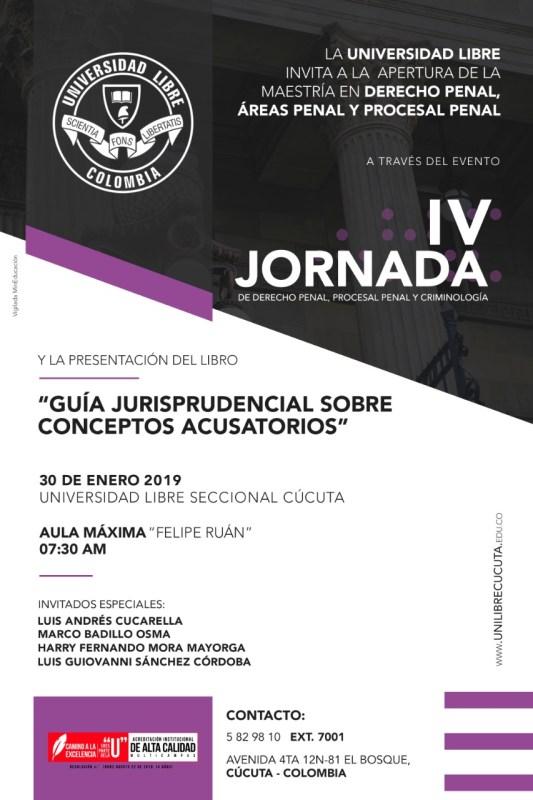 IV Jornada Derecho Penal UNILIBRE