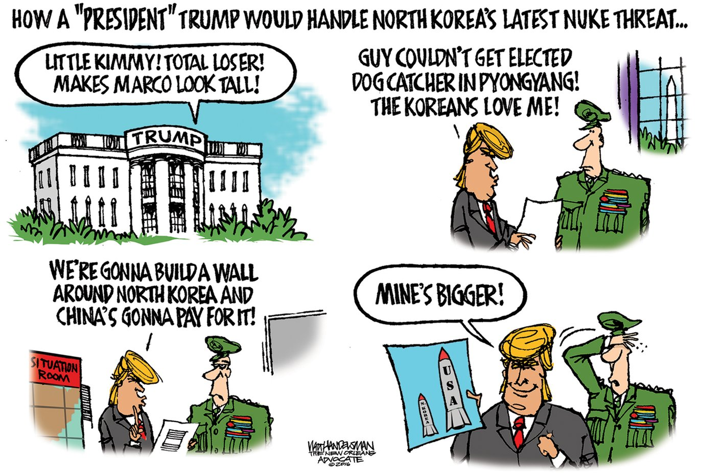 Image result for cartoons about trump and nuclear weapons