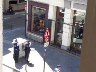 The scene at the corner of Rue de L'Ecuyer. PHOTO: FATIMA ZIBOUH