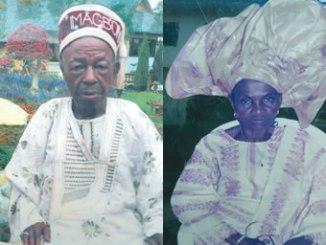 The late Pa Ajanaku Adetayo and The late Madam Oyesola Adetayo