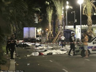 Carnage after the attack at NIce, France. PHOTO: ZUMAPRESS