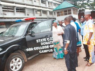 A brand new Toyota SUV recently donated to the Nigeria Police by the Yaba College of Technology, Lagos
