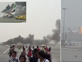 All 300 passengers sprint down the runway minutes before their Emirates plane explode. PHOTO: DAILYMAIL