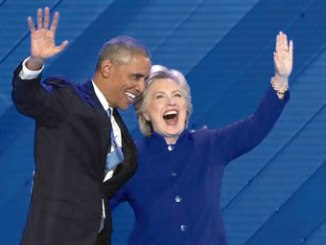 US president Barack Obama and Democrat presidential nominee, Hillary Clinton: PHOTO: REUTERS