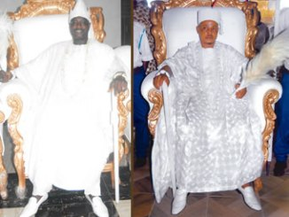 Oba Efungbemi, the Oba Ala worldwide, left and Oba Ifarotimi, Oba Isese worldwide