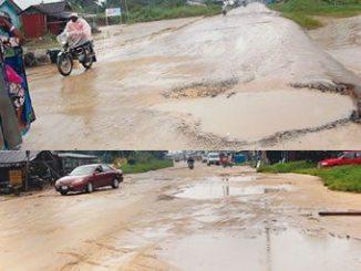 The state of roads in Okwagbe